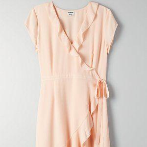 Aritzia Sunday Best Savoy Peach Wrap Flowy Dress 4